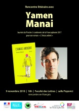 Rencontre littéraire avec Yamen Manai àCluj-Napoca